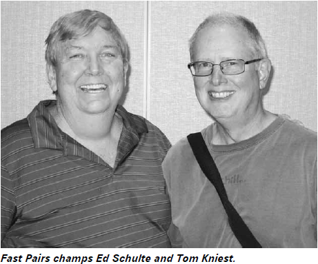 Ed Schulte in the NABC Fast Pairs (playing       with Tom Kniest)